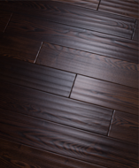 Инженерная доска Global Parquet Classic Ash Dark Chocolate (4/400-1200*125*15 мм)(2,7 м2/уп), Ф4, скобление
